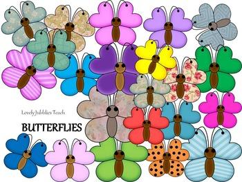 Clipart Colorful Butterflies