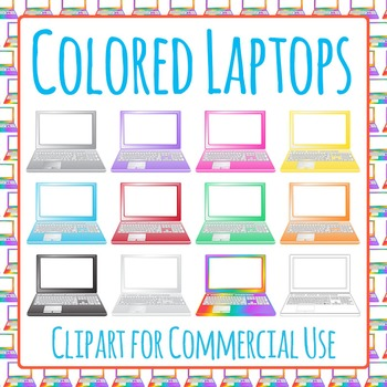Laptop Computer Clip Art Pack for Commercial Use