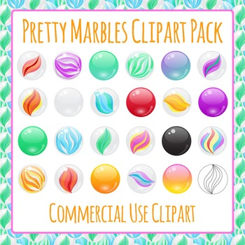 Marbles / Manipulatives / Toys Clip Art Pack
