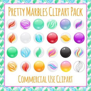 Marbles / Manipulatives / Toys Clip Art Pack