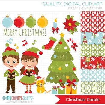 CLIPART BUNDLE - Christmas Carols