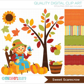 CLIPART BUNDLE - Fall / Sweet Scarecrow