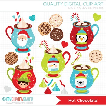 CLIPART BUNDLE - Christmas / Hot Chocolate