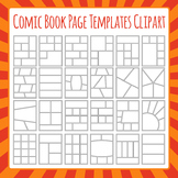 Comic Book Templates / Graphic Novel Templates Clipart Commercial Use