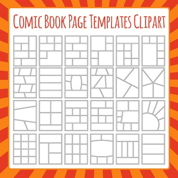 comic book templates graphic novel templates clipart commercial use