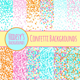 Confetti Backgrounds : Digital Papers / Patterns for Comme