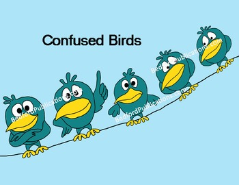 Clipart: Confused birds