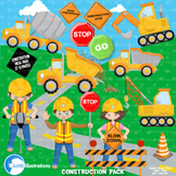 Construction Clipart, Road Work Clipart, {Best Teacher Too