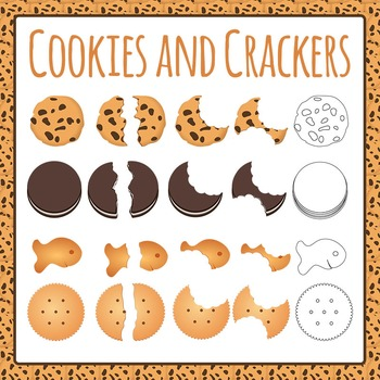 Cookie and Cracker Clip Art Pack for Commercial Use