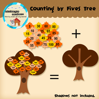 Clipart: Counting By Fives Tree - fall clipart - math clipart