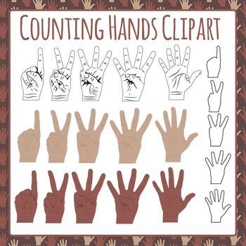 Counting Fingers Hands Clip Art Pack for Commercial Use