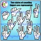 Multicultural Counting Hands Clip Art