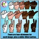 Clipart ♦ Counting Hands ♦ Multicultural Hands Clip Art