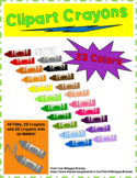 Clipart Crayons ***23 Different Colors***