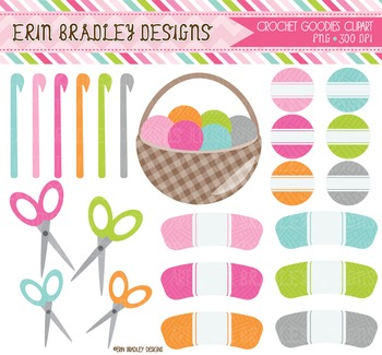 Clipart - Crochet Craft Graphics