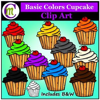 Cupcakes Clip Art Basic Colors