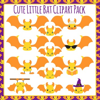 Bat Cute Clip Art Pack for Commercial Use
