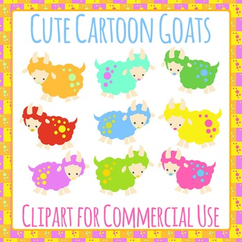 Goats Clip Art Pack for Commercial Use