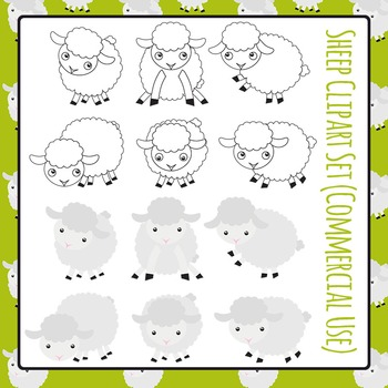 Sheep Clip Art Set for Commercial Use