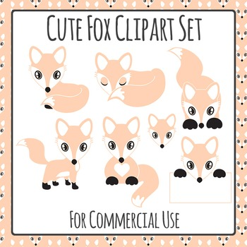 Fox Clip Art Pack for Commercial Use
