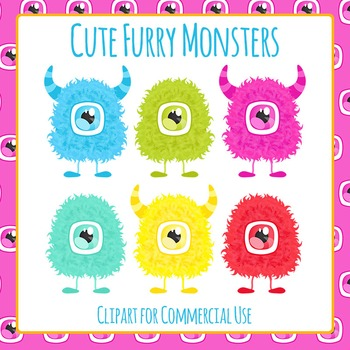 Monsters Clip Art Pack for Commercial Use