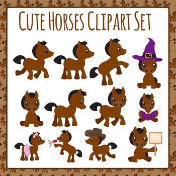 Horse or Ponies Clip Art Pack for Commercial Use