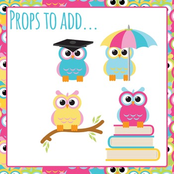 Cute Owls Big Clipart Pack - Commercial Use