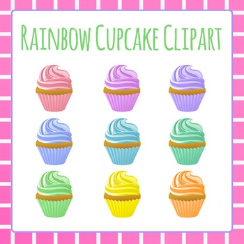 Cupcake Clip Art for Commercial Use