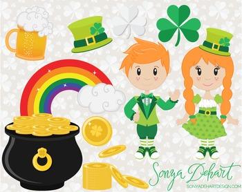 Clip Art: Cute Saint Patrick's Day Clip Art Set