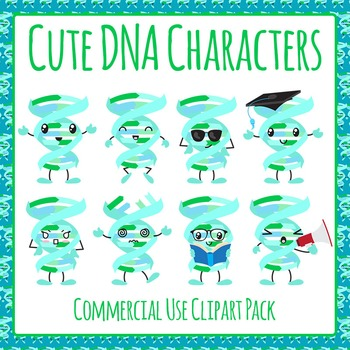 DNA Characters Clip Art Pack for Commercial Use