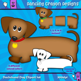 Dog Clip Art:  Dachshund Dog (Wiener Dog / Sausage Dog)