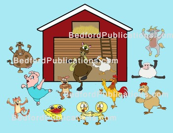 Clipart: Dancing Farm Animals