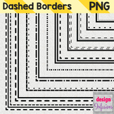 Clipart: Dashed Borders Pack 1