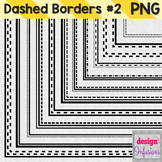 Clipart: Dashed Borders Pack 2