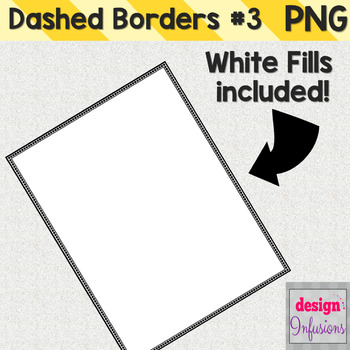 Clipart: Dashed Borders Pack 3