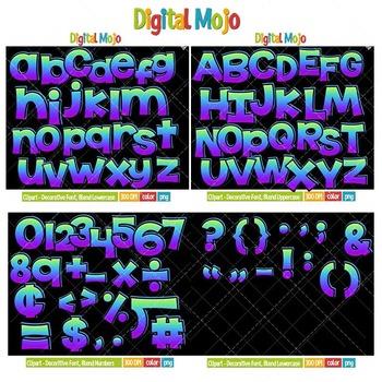 Clipart - Decorative Font, Blend Series 1 Bundle