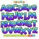 Clipart - Decorative Font, Blend Series 1 Uppercase
