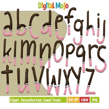 Clipart – Decorative Font, Sweet Treats