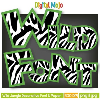 Zebra Clipart Alphas
