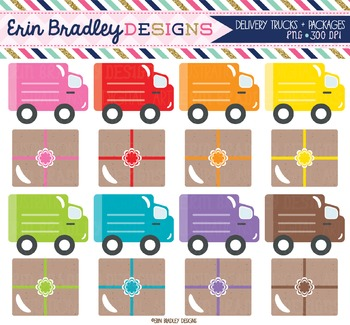 Clipart - Delivery Trucks and Packages