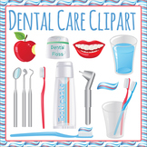 Teeth Care - Toothbrush Toothpaste Commercial Use Clip Art Pack