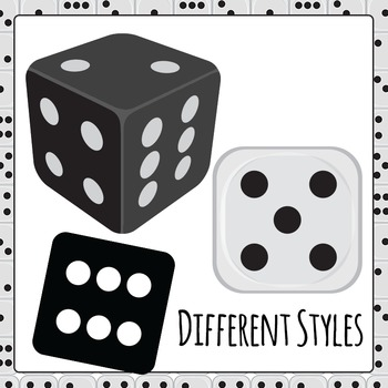 Dice Clip Art Big Pack for Commercial Use