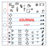 Clipart, Digital, Journaling, Arrows, Sticky Notes, Little