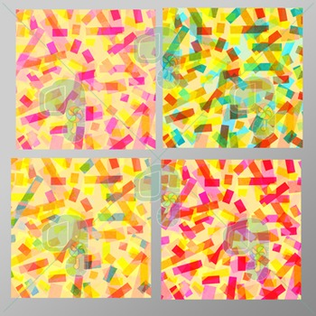 Clipart Digital Paper-15x15 Confetti Background