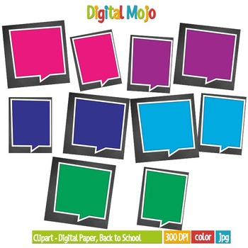 Clipart – Digital Paper, Back to School