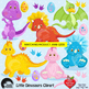 Clipart, Digital Stamps, Dinosaur Digital stamps, line drawing, AMB-1205