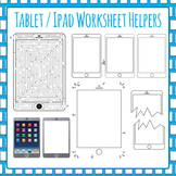 Ipad / Digital Tablet Worksheet Helper Clip Art Pack for Commercial Use