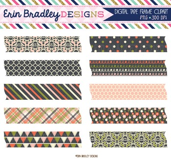 Clipart Digital Washi Tape - Wonderful Collection