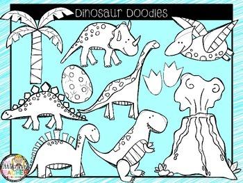 Clipart - Dinosaur Doodles