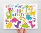 Clipart - Dinosaur Fun (Girl)